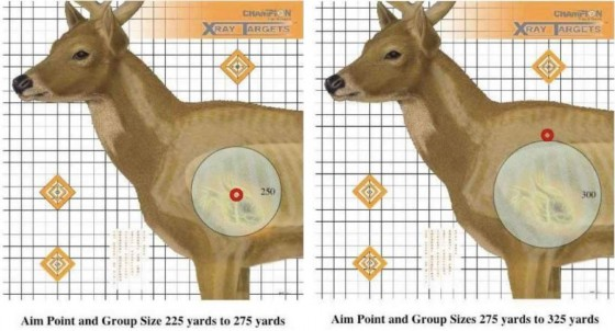 Grendel aim points for deer at 225 and 325 yards