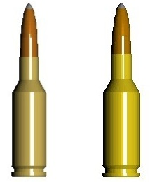Figure 1. The .22 PPC (left) and 6mm BR will both likely generate needed ballistics